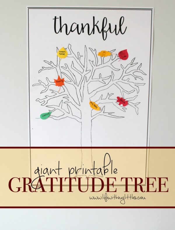 Giant Printable Gratitude Tree
