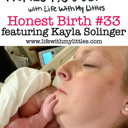 Mama Amanda Kayla Solinger shares the hospital birth story of her daughter on the Honest Birth birth story series! Kayla started having back labor at 38 weeks in the middle of a snow storm. While staying at a hotel near the hospital, Kayla went into the hospital, got an epidural, and was fully dilated after five hours. She pushed for two hours and with the help of forceps, her daughter was born!