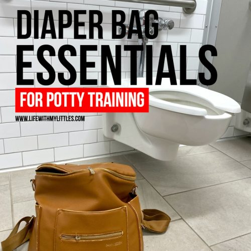 Leaving the house when you're potty training can be scary, but it doesn't have to be when you're prepared! Make sure have these diaper bag essentials for potty training packed, and you won't worry about accidents on-the-go anymore!