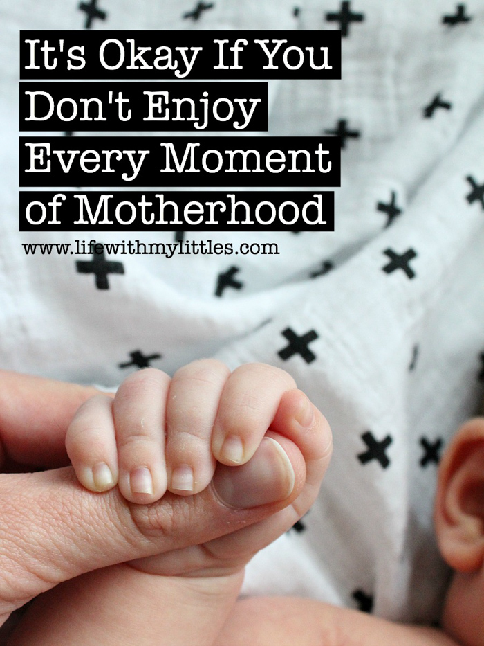 Being a mom is hard, and it's okay if you don't enjoy every moment of motherhood. A great read for any mom who's ever felt overwhelmed, exhausted, stuck, alone, or drained!
