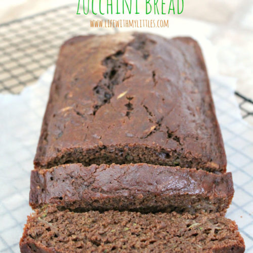 This skinny chocolate zucchini bread is healthy, delicious, moist, and has 2 whole zucchinis! You could easily pass this recipe off as chocolate cake!