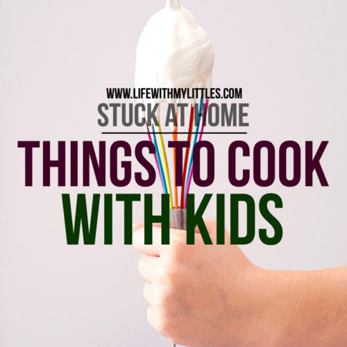 Stuck at home with nothing to do? Try baking or cooking with your kids! Here are 35 things to cook with kids, featuring recipes with five or less ingredients and no-bake recipes!