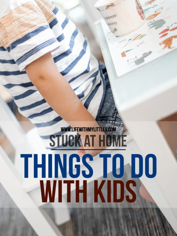 Running out of things to do with kids while you're stuck at home? Kids telling you they're bored and they don't want to play with their toys anymore? No problem! Here are 36 fun and creative things to do with kids that you can do from home with minimal supplies!