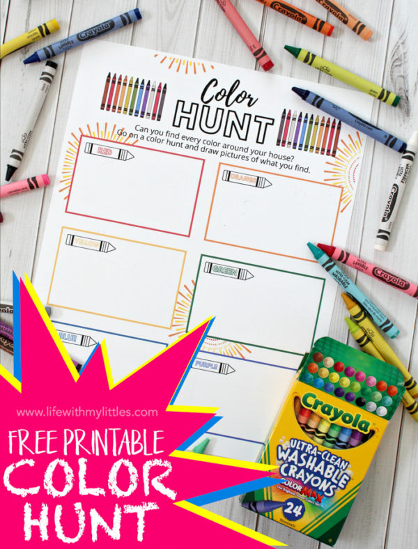 Printable At-Home Color Hunt