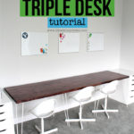 DIY Triple Desk Tutorial
