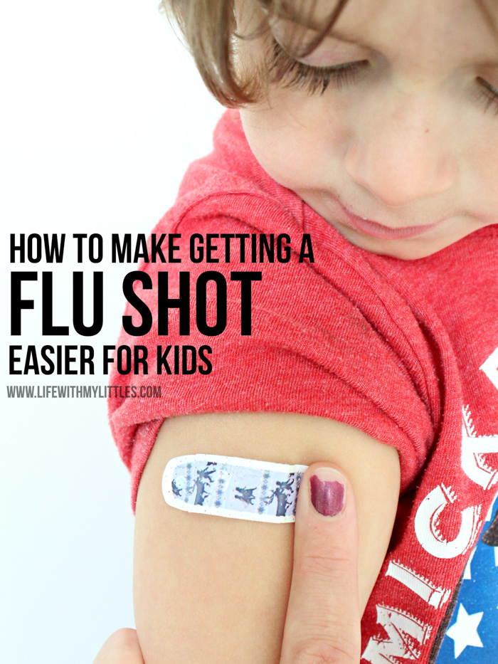 Do these simple things before, during, and after to make getting a flu shot easier for kids. Great tips for anyone who has a child who is scared of getting a flu shot!