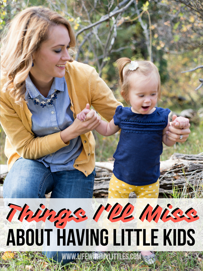 My kids are getting bigger, and I'm having a hard time dealing with it! Here's a post about things I'll miss about having little kids that's a great read for any mom struggling in the thick of it!