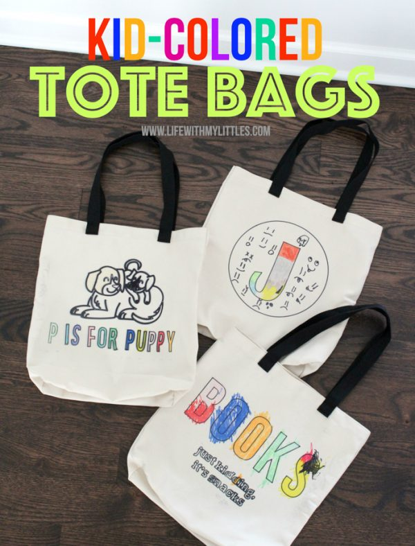 Kid-Colored Tote Bags with Cricut Explore Air 2 – An Easy DIY Holiday Gift!