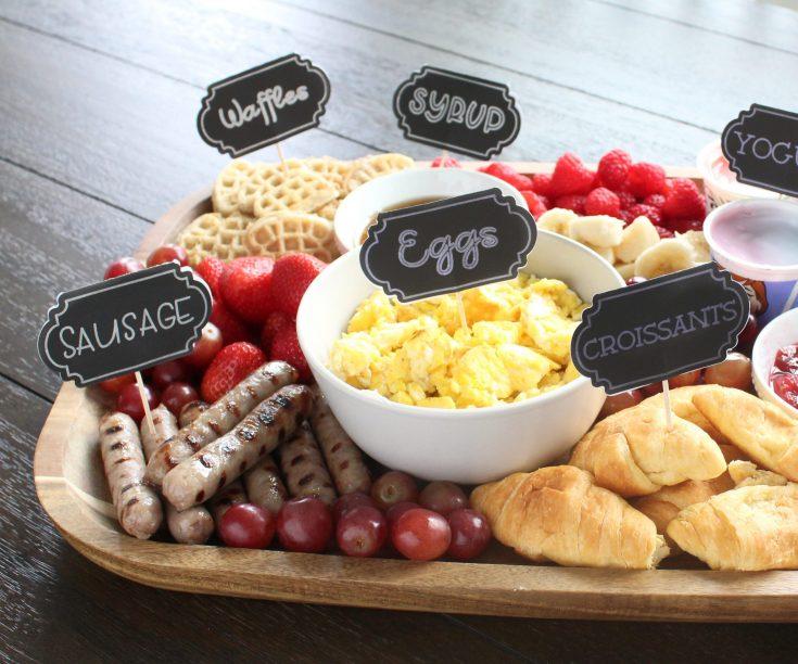 Back-to-School Breakfast Charcuterie Board